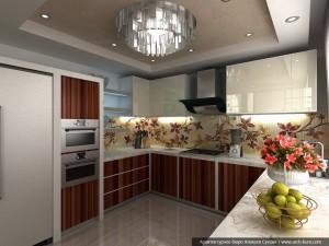 Дизайн кухни в коттедже. Посёлок Растущий, Екатеринбург