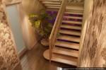Дизайн лестницы в коттедже. Посёлок Растущий, Екатеринбург
