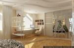 Дизайн интерьеров коттеджа. Спальня дочери