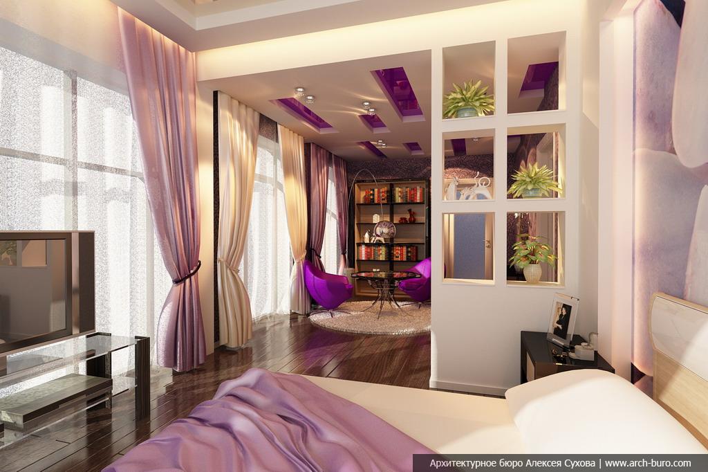 Дизайн интерьеров коттеджа. Спальня родителей