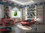 Дизайн интерьеров коттеджа. Спальня сына, вариант - 1