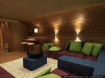 Дизайн интерьеров мансарды в коттедже
