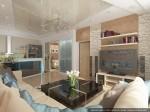 Дизайн квартиры в таунхаусе. Гостиная
