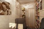 Дизайн квартиры в таунхаусе. Кабинет