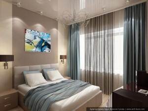 Дизайн квартиры в таунхаусе. Спальня
