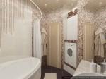 Дизайн квартиры в таунхаусе. Ванная комната