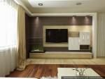 Гостиная, кухня-столовая. Дизайн интерьеров коттеджа