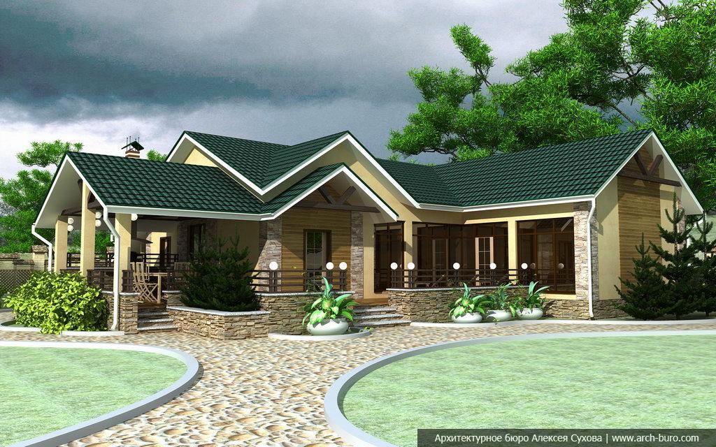 Архитектурный проект бани с бассейном