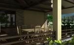Архитектурный проект бани с бассейном и беседкой-барбекю
