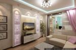 Дизайн квартиры в городе Тарко-Сале. ЯНАО. Интерьер гостиной