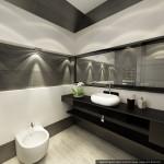 Интерьеры коттеджа с мансардой. Дизайн душевой комнаты.