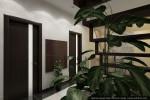 Интерьеры коттеджа с мансардой. Дизайн холла 2-го этажа.