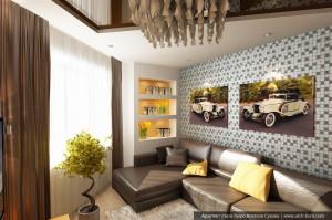 Услуги дизайнера квартир. Дизайн гостиной, кухни-столовой