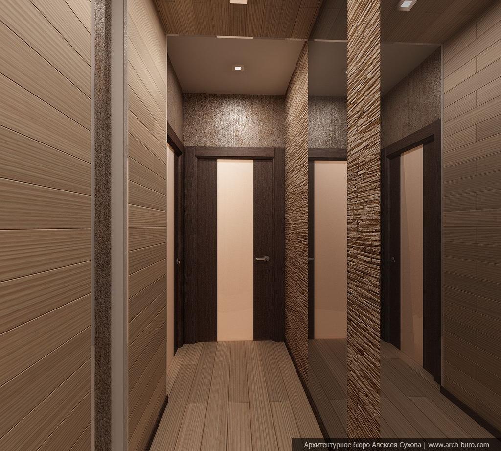 пример коридор панелями дизайн фото имеющиеся