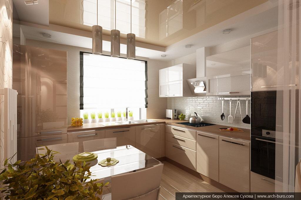 Фото современных кухонь совмещенных с балконом..