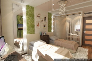 Дизайн элитной квартиры. Комната девочек