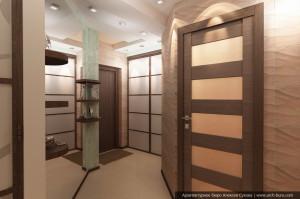 Дизайн элитной квартиры. Прихожая и коридор