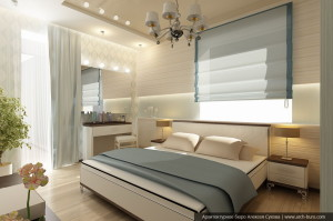 Дизайн элитной квартиры. Спальня родителей