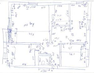 Рукописный обмерочный план квартиры