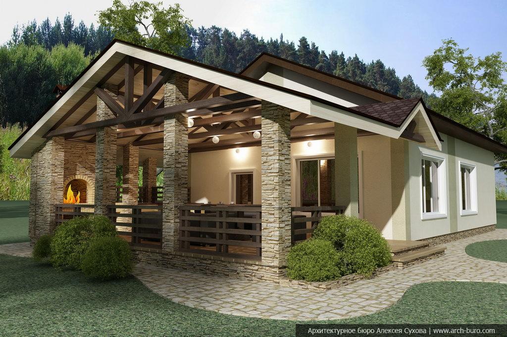 Баня беседка барбекю дровяной облегченный камин своими руками