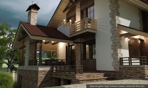Проект загородного дома. 3d визуализация