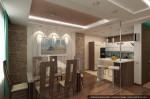 Современный дизайн кухни-столовой