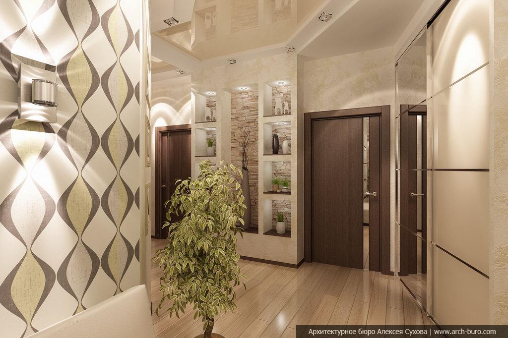 Комната с коридором дизайн фото