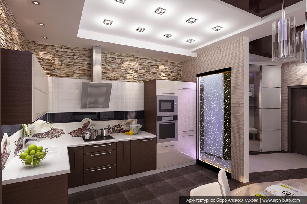 кухня совмещённая с прихожей фото