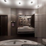Интерьер трехкомнатной квартиры. Дизайн ванной комнаты