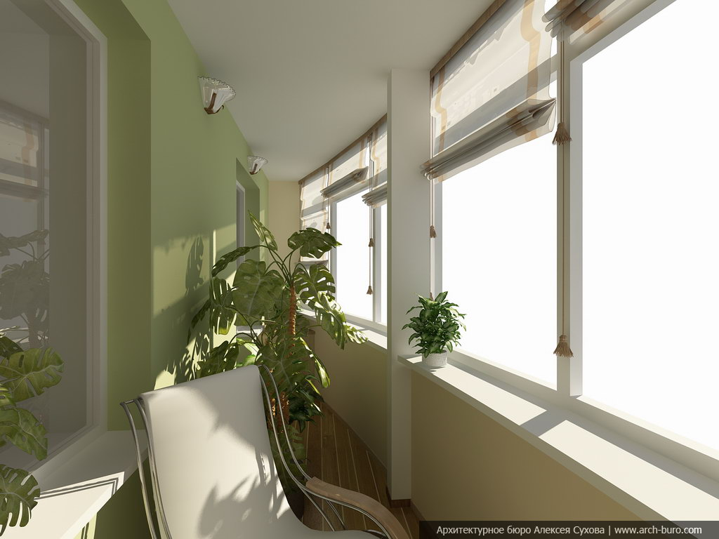 Вариации оформления дизайна лоджии и интерьера балкона.