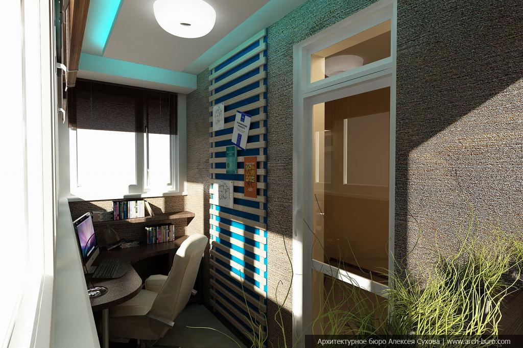 Стильный интерьер кабинета располагает к творчеству.