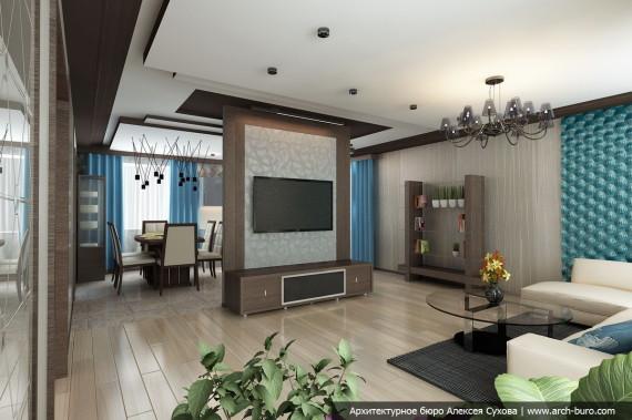 dizajn-doma-kottedzha-gostinaja-kuhnja-1