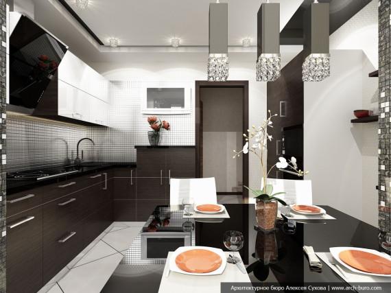 Кухня-столовая в объединении с утеплённой лоджией
