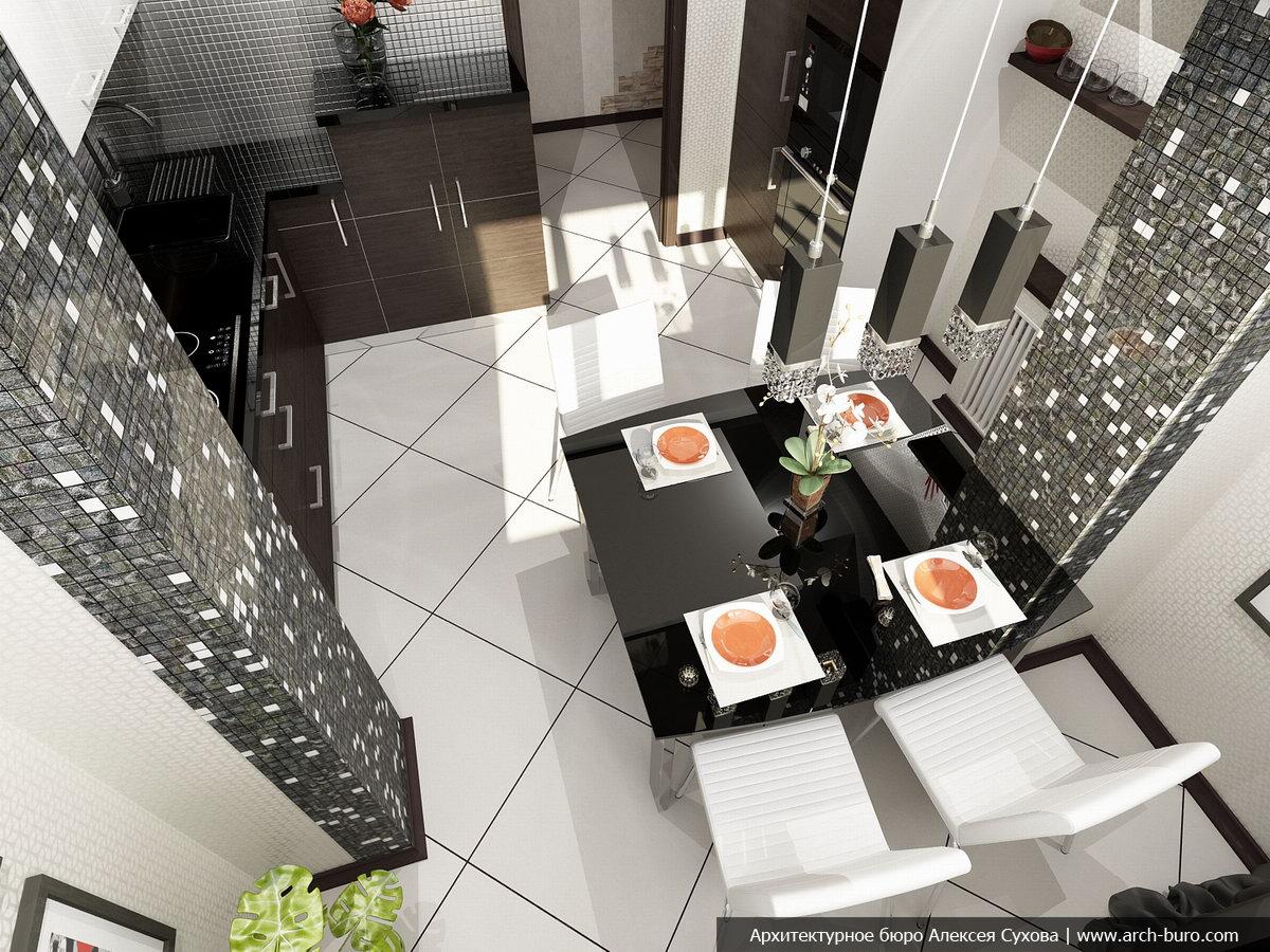 Как создать функциональную и красивую кухню в небольшом поме.