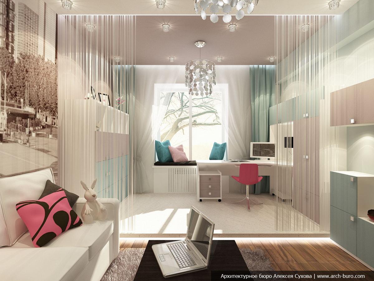 Дизайн комнаты совмещенной с детской фото.