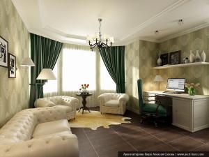Кабинет в дизайне дома