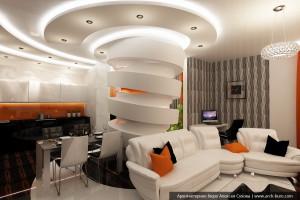 Мега колонна в гостиной