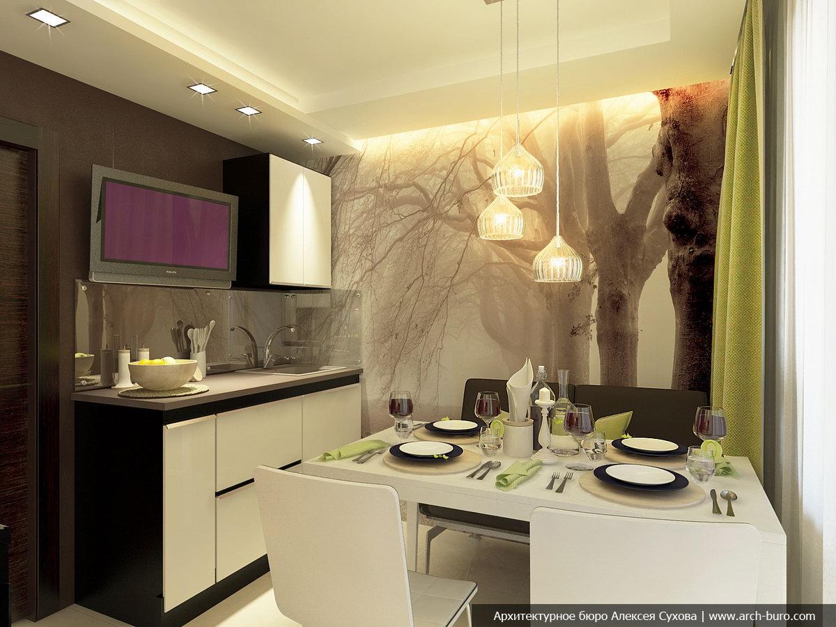 Дизайн однокомнатной квартиры 45 квм