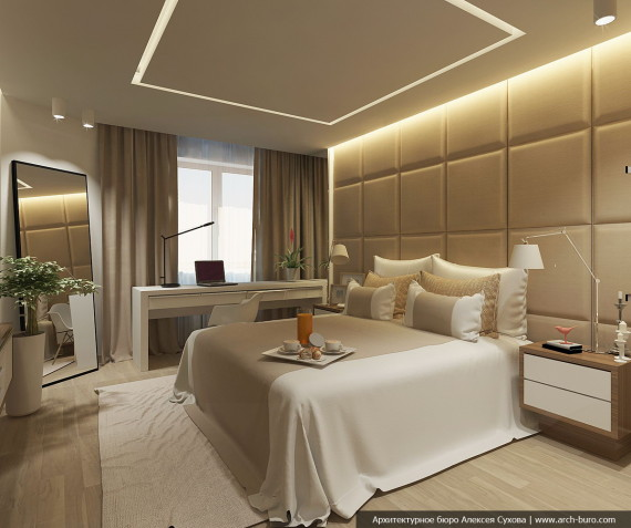 Интерьер спальни в современно-классическом стиле