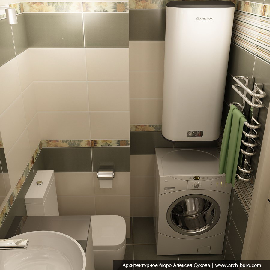 ванная комната дизайн фото 4 кв м со стиральной машиной без туалета
