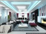 Гостиная в интерьерах дизайна коттеджей