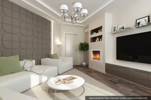 Интерьер гостиной. Дизайн 3 комнатной квартиры