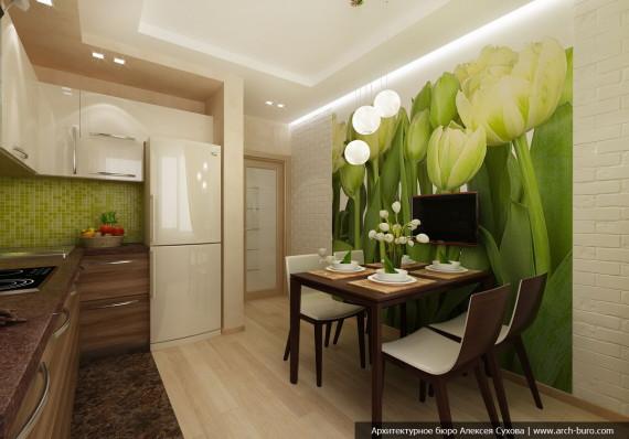 Дизайн квартиры в Академическом районе Екатеринбурга