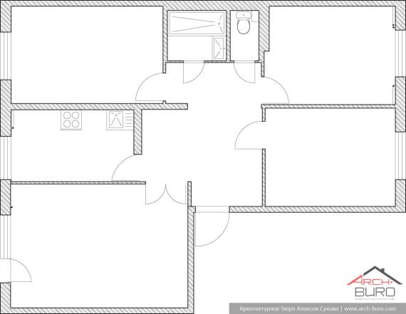 Планировка стандартного панельного дома
