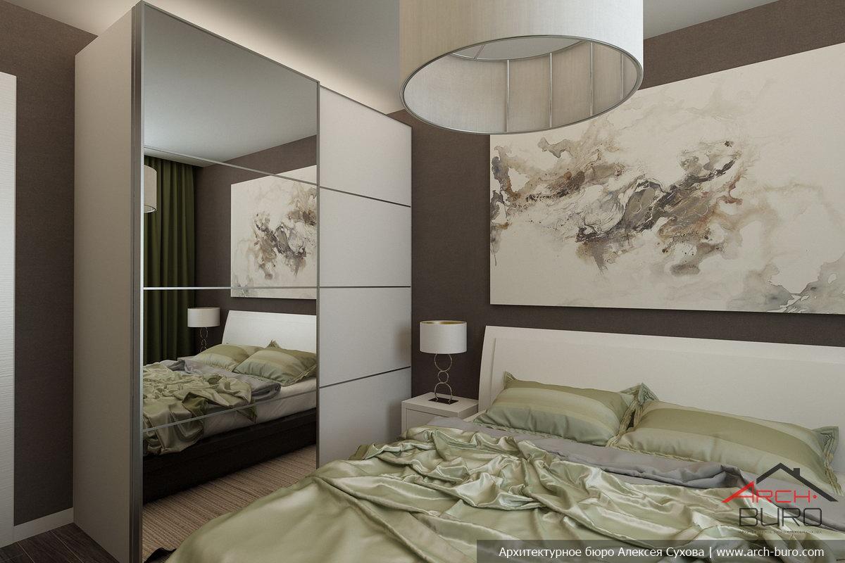 Дизайн спальни в трехкомнатной квартире панельного дома