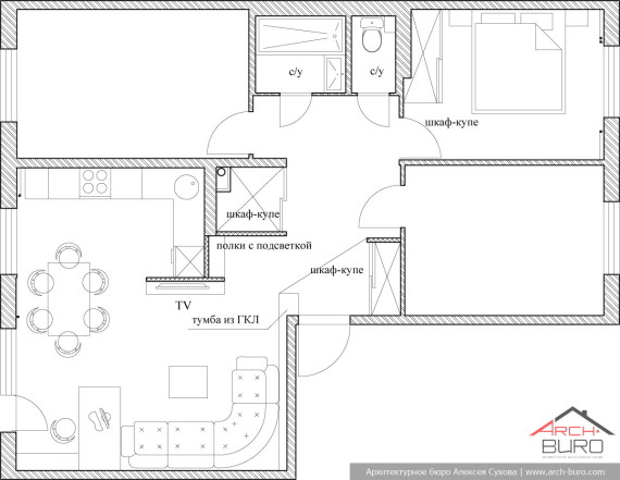 Проект перепланировки квартиры в панельном доме