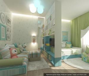Детская в современном доме. Дизайн интерьера