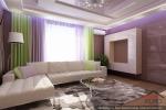 Гостиная в интерьере двухуровневой квартиры фото