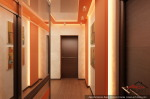 Холл в двухуровневой квартире. 2-й уровень