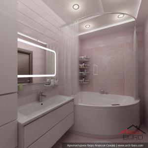Ванная комната в большой квартире